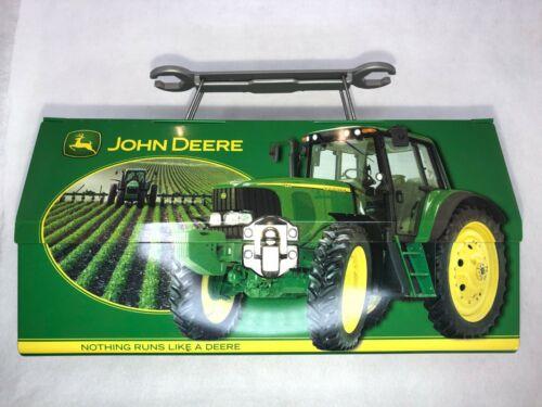 John Deere Tin Lunch Box Carryall Trinket Tool Box Walmart Wrench Handle