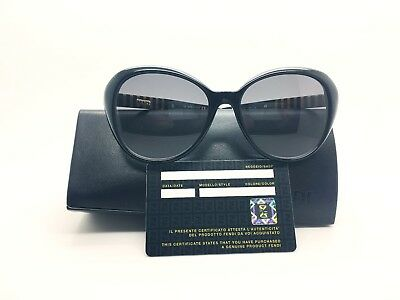 Fendi Sunglasses For Women 2017 FS 5348 001 Made in Italy Authentic Plus Case