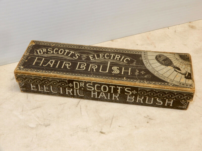 ANTIQUE DR SCOTTS ELECTRIC HAIR BRUSH BOX