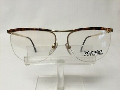 Vintage Versailles 86 Eyeglasses Sunglasses Gold Tortoise Semi Rimless Large (Large Rimless Glasses)