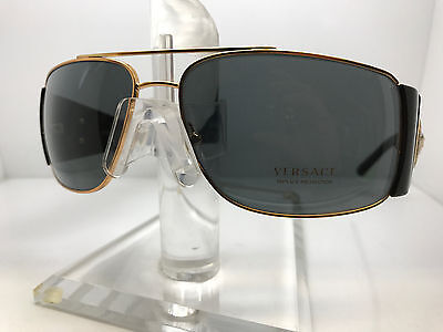 Authentic VERSACE SUNGLASSES VE2163 100281 BLACK/GRAY POLARIZED LENS