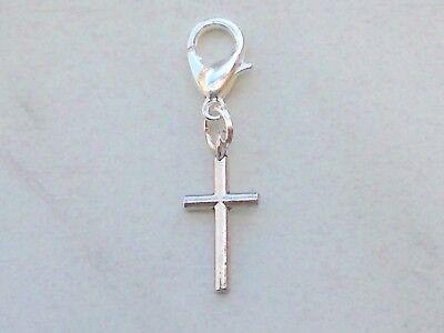Kleine Charms (Charms Anhänger kleines KREUZ Charm Kruzifix Glaube Religion Bettelarmband Kette)