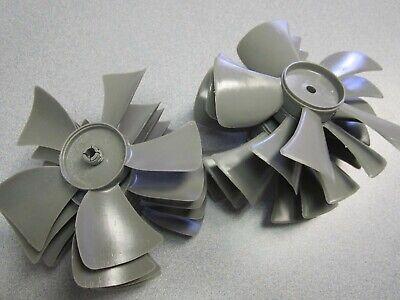 10 Pack Grey Plastic 5 X 14 X 5 Blade Exhaust Ventilator Fan Blades Usa New