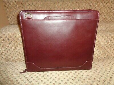 Franklin Quest Covey Deep Burgundy Leather Monarch Organizer Briefcase Planner