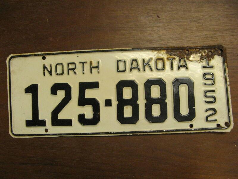 1952 52 NORTH DAKOTA ND LICENSE PLATE 125-880