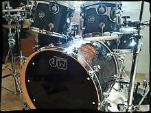 DW performance series 6 pce drum kit. Black Diamond finish. Coburg Moreland Area Preview