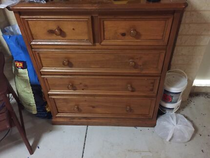 Wooden set of draws  Hocking Wanneroo Area Preview