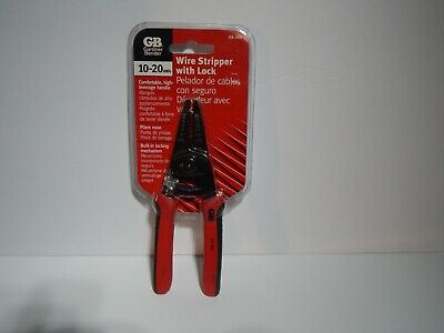Gardner Bender Wire Stripper With Lock - 10-20 Awg New With Red Handles