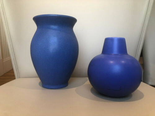 Bybee-era Vase and Bella Vase, Blue, Lot of 2