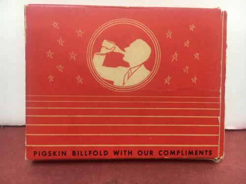 1940-50S COCA-COLA PIGSKIN  WALLET WITH BOTTLE DESIGN - MINT IN BOX