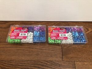 Quality Elmer Beads in sturdy plastic box x2