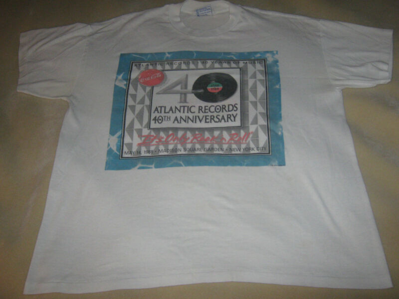 ATLANTIC RECORDS 40TH ANNIVERSARY 1988 CONCERT SHIRT**XL* LED ZEPPELIN*EXCELLENT