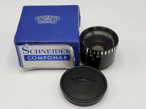 Schneider Kreuznach Componar 50mm F4.5 Enlarging Lens w/ Flange Screw Cap & Box
