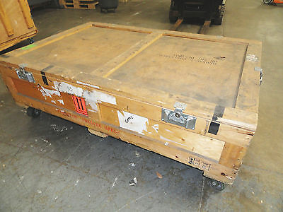 Large Wooden Shippingroad Case On 4 Heavy Duty Casters