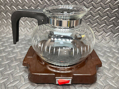 Bunn-o-matic Electric Warming Plate And 6 Cup Coffee Pot Carafe Combo