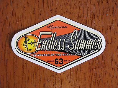 Endless Summer Vintage Surf Surfing Surfboard Woodie Skateboard STICKER DECAL