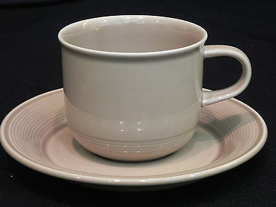 "Nancy Calhoun ""Images"" set of 4 coffee cups, mugs, teacups, & saucers Lt. brown"