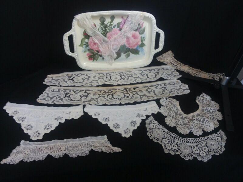 9 Pc Antique Lace Trim Embellishments Lot 5