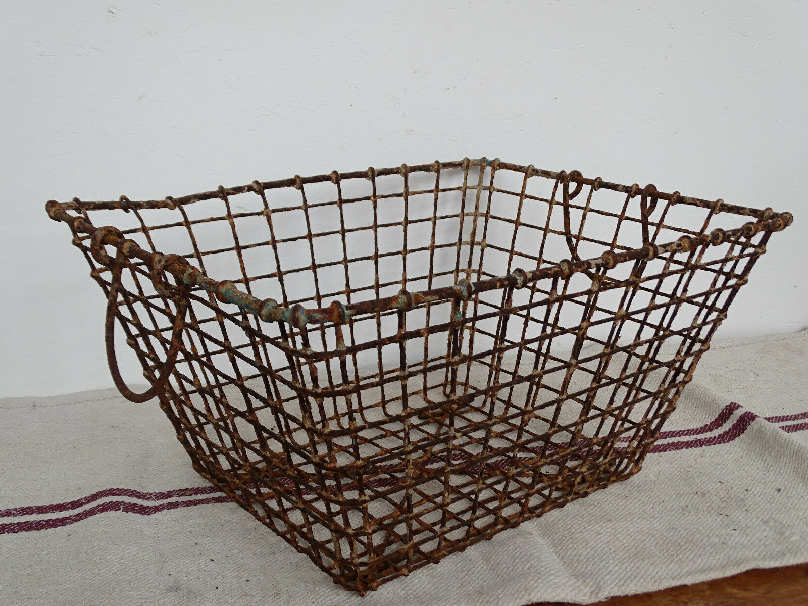 N2249 Austernkorb ~ Metallkorb ANTIK ~ Oyster basket ~ RARE