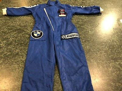 BMW Pirelli Blue Mechanic / Racing Jumpsuit Costume TODDLER / INFANT Size 2T
