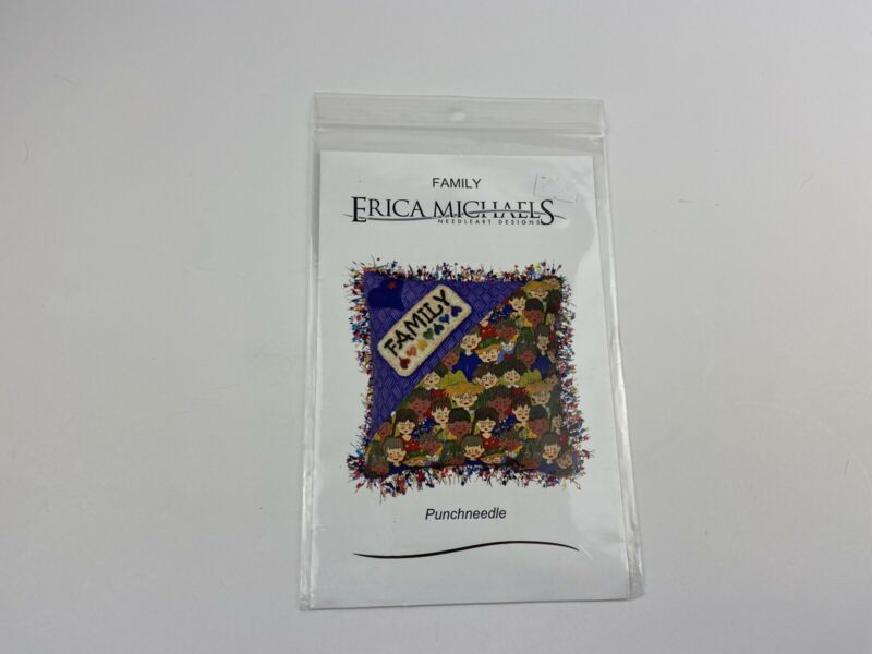 Erica Michaels Family Punch Needle Pattern Hearts Love