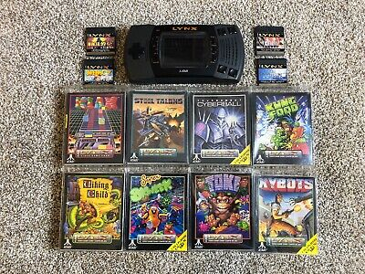 Atari Lynx II Mcwill Backlight Modded Console with 12 Games