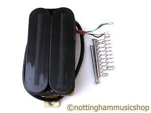 electric guitar black hot rail bridge humbucker pickup 4 wire coil split lp new ebay. Black Bedroom Furniture Sets. Home Design Ideas