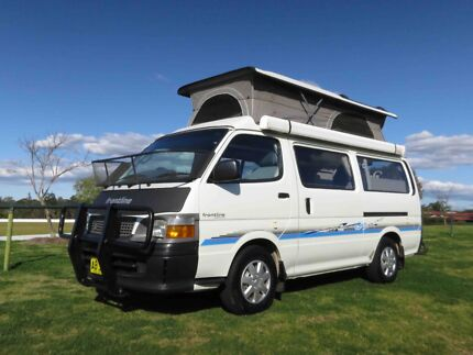 Toyota FRONTLINE Hiace Poptop Campervan - 5 SEATBELTS & ANNEXE Glendenning Blacktown Area Preview