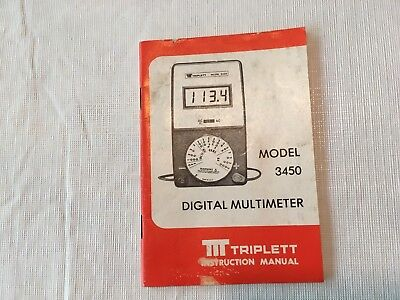 Triplett Operator Manual For 3450 Dmm