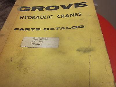 Grove Model Tms375lp Hydraulic Cranes Parts Catalog Manual Sn 20777