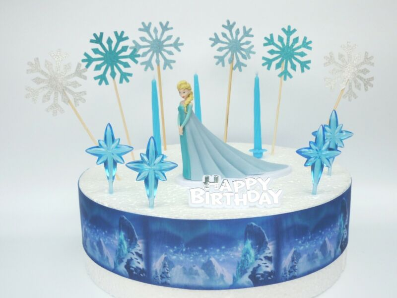 ELSA Frozen Cake Decoration Set - Cake Topper Figure ...