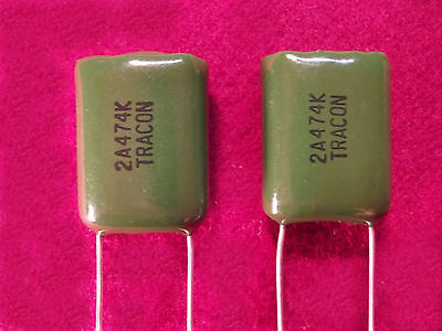 Tracon Polyester Film Capacitors .47ufmicrofarad 100vvolt Radial Quantity 1