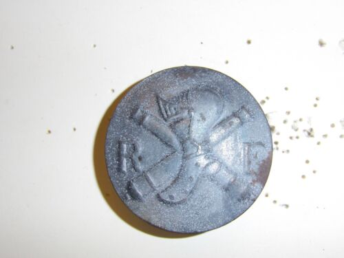 0318 Post WW 1 French Tank Corps Helmet Plate Adrian France GD6