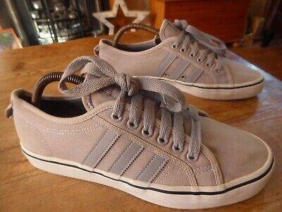 mens canvas ADIDAS nizza - size uk 8 ( 2013 ) good condition
