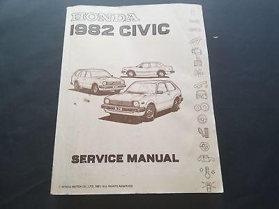 Vintage Honda 1982 Civic Service Manual From Honda Motor Company First Edition