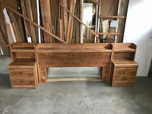 BEDROOM SET WITH NIGHT-TABLES, HEADBOARD, WARDROBE AND DRESSER