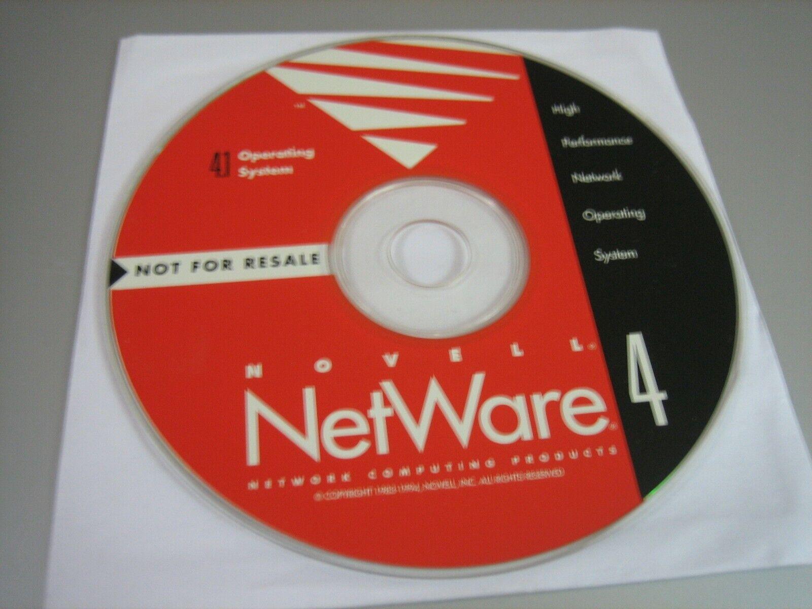 Vintage Novell NetWare 4.1 Upgrade CD Software (CD, 1994) - Disc Only!!!