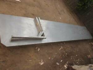 3.8M Stainless steel bench topwith brackets cafe restaurant commercial