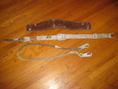 Vtg 1992 Miller Ansi A10.14 Lineman L Safety Climbing Belt Strap Style 8304cw