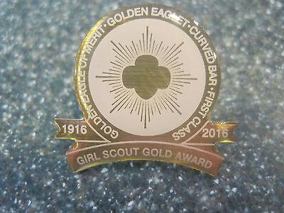 Girl Scout Gold Award Pin Centennial 100 years of GS highest awards NEW pin