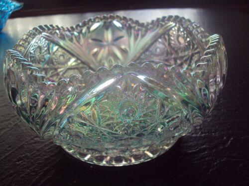 Vintage Iridescent Glass Bowl