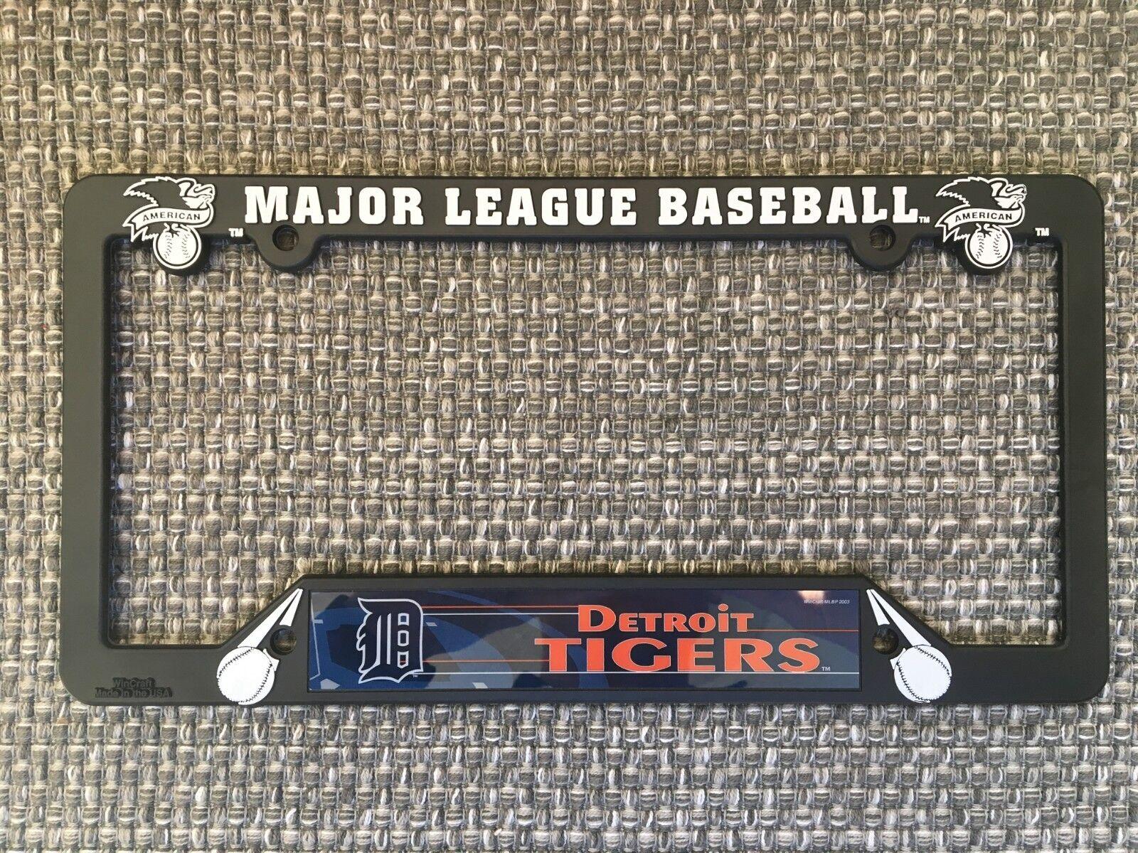 Detroit Tigers NEW MLB Black Plastic License Plate Frame Mad