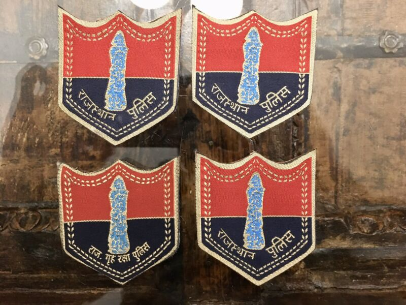 Rajasthan Police Department Patch. Rajasthan, India. Free Shipping