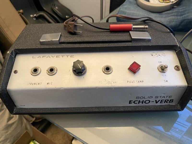 Lafayette Echo Verb, Original, Spring Reverb, Vintage Unit. (Needs Some Repair)