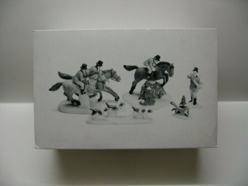 DEPT 56 HERITAGE VILLAGE COLLECTION ACCESSORIES TALLYHO Set of 5 BRAND NEW