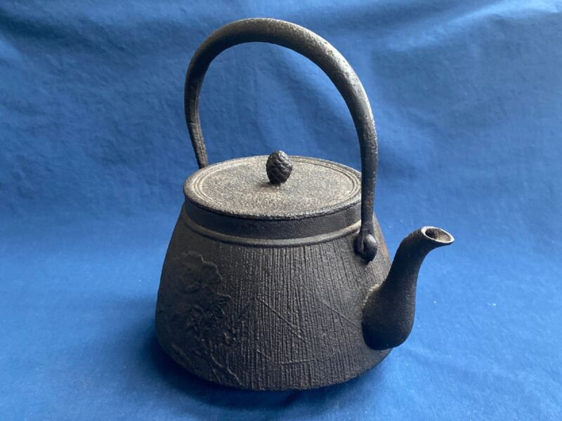 Antique Asian Cast Iron Teapot Tea Kettle