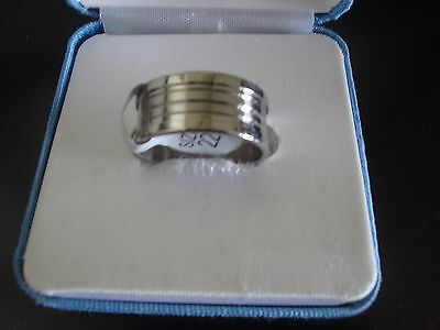 Stainless Steele Band Ring  ~ Style #5 ~ Size 9