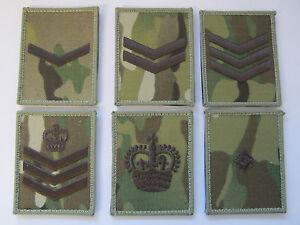 Multi-Camuflaje-Regimental-Cuadrados-Rank-Marron-Bordado-Insignia