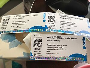 Katy perry tickets at Shoppingtown hotel 5/7/17 Donvale Manningham Area Preview