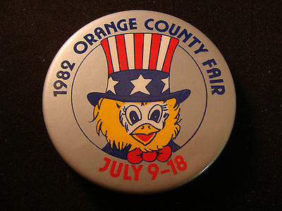 1982 Orange County Fair pinback button California
